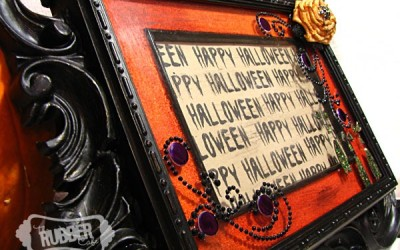 Spooky Halloween: Altered Frame Tutorial!