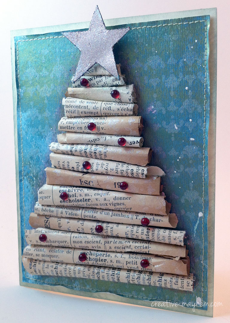 Altered Christmas Tree Card