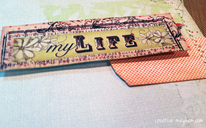 Project Life Page with Washi Stamp